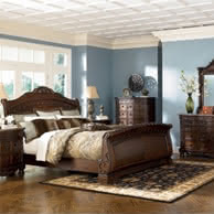 Greensburg Queen Sleigh Bed With Storage Ashley Furniture Home